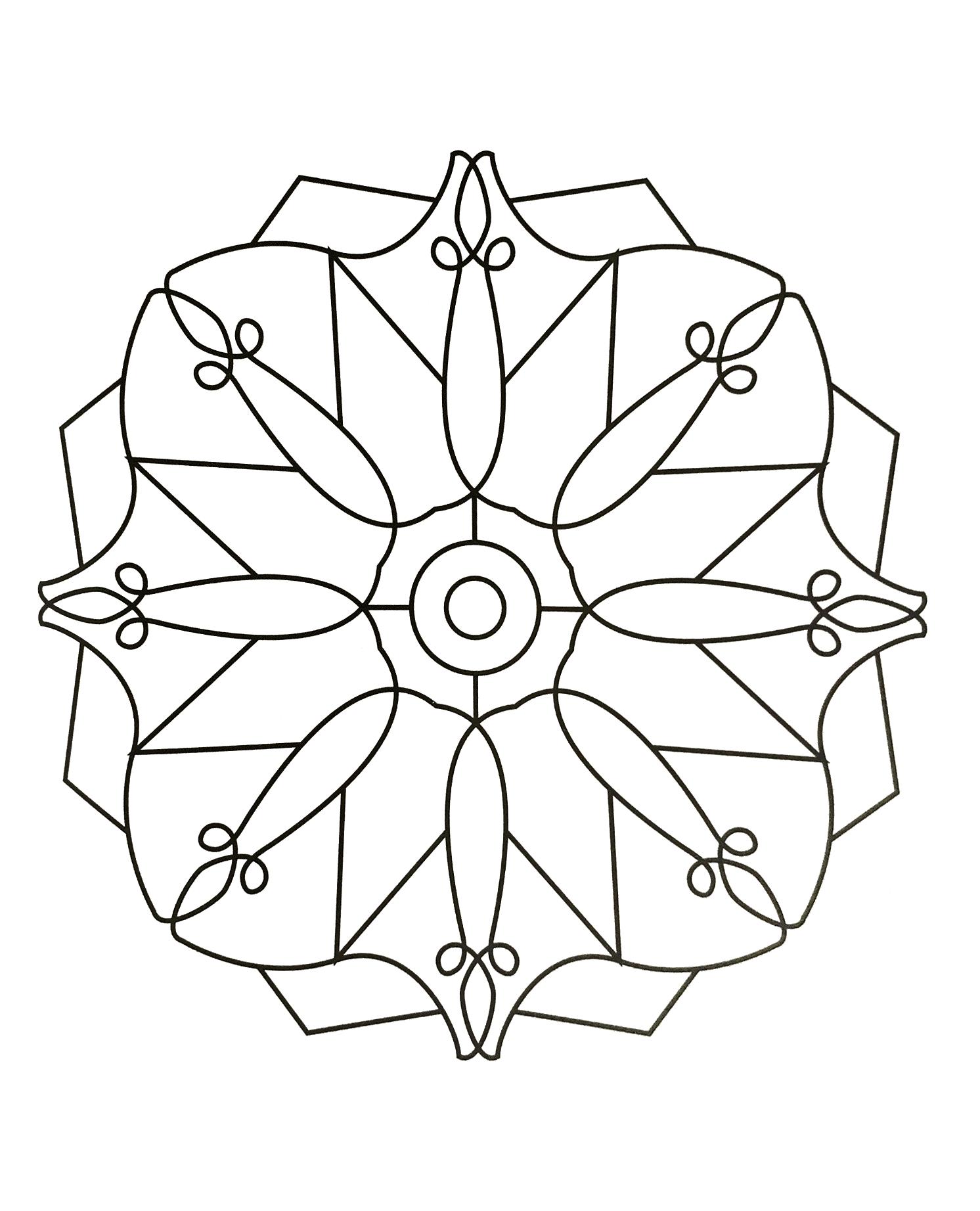 Nouveau Dessin à Colorier De Mandala