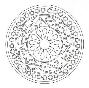 Mandala celtique symétrique