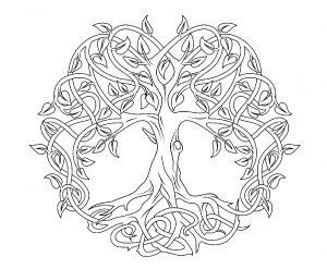Mandala en forme d'arbre