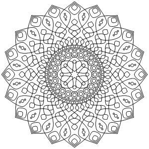 Mandala apaisant et déstressant
