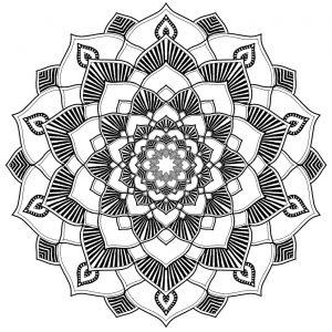 Mandala parfait pour la détente