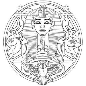Mandala Egypte et Toutânkhamon   Version 2