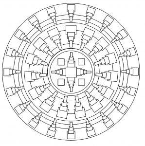 Mandala original et abstrait