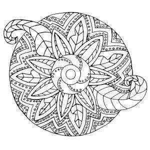 Mandala métallique / Végétal