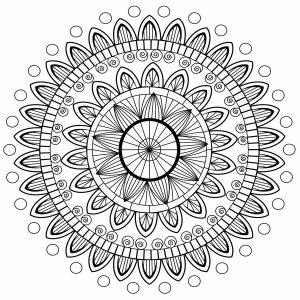 Mandala aux pétales abstraits