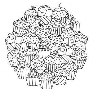 Mandala Cupcakes