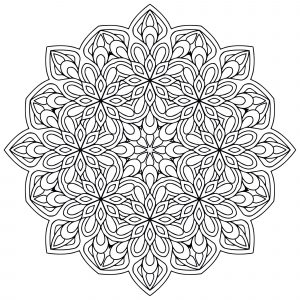 Mandala fleurs anti stress