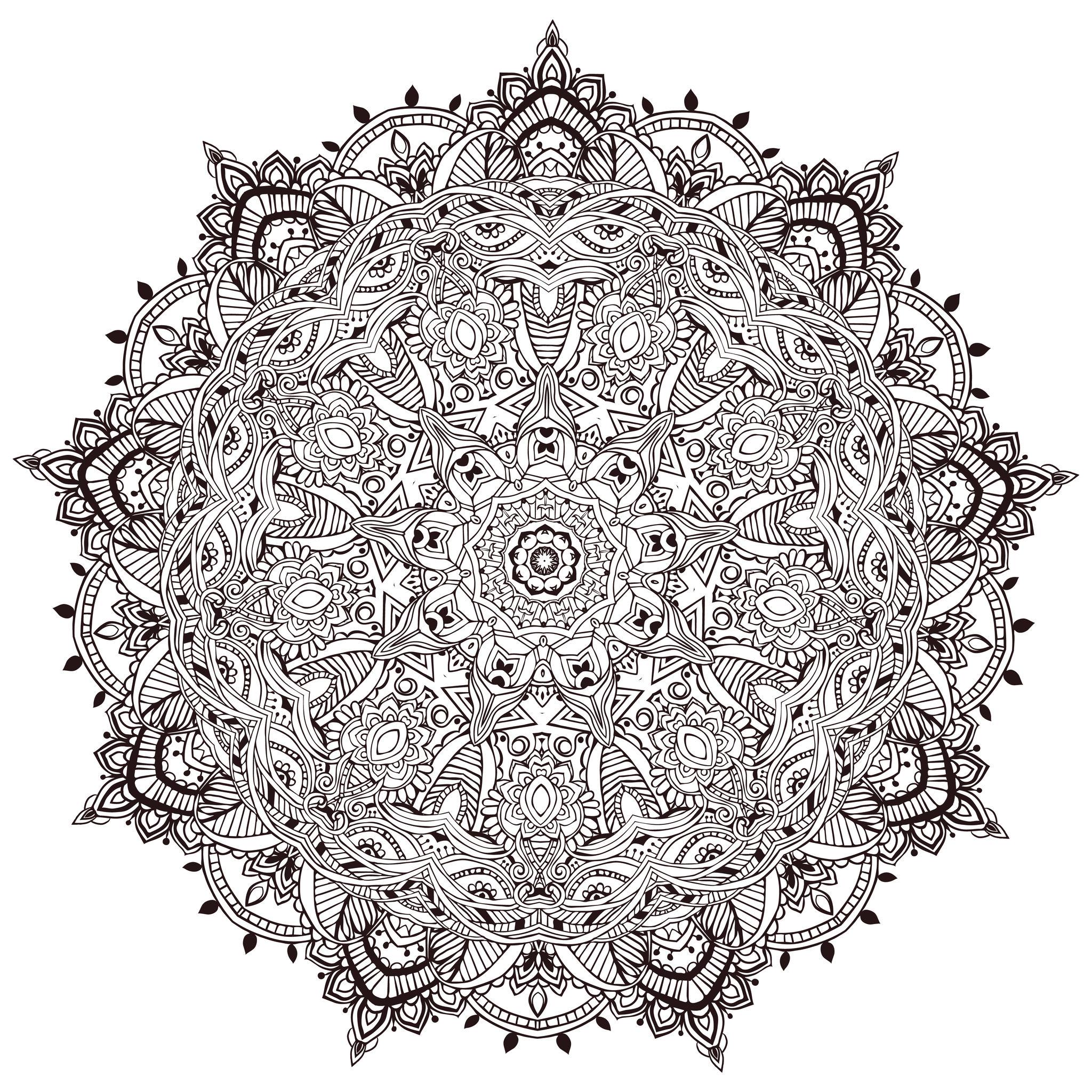 Mandala Ultra Détaillé Mandalas Très Difficiles Pour