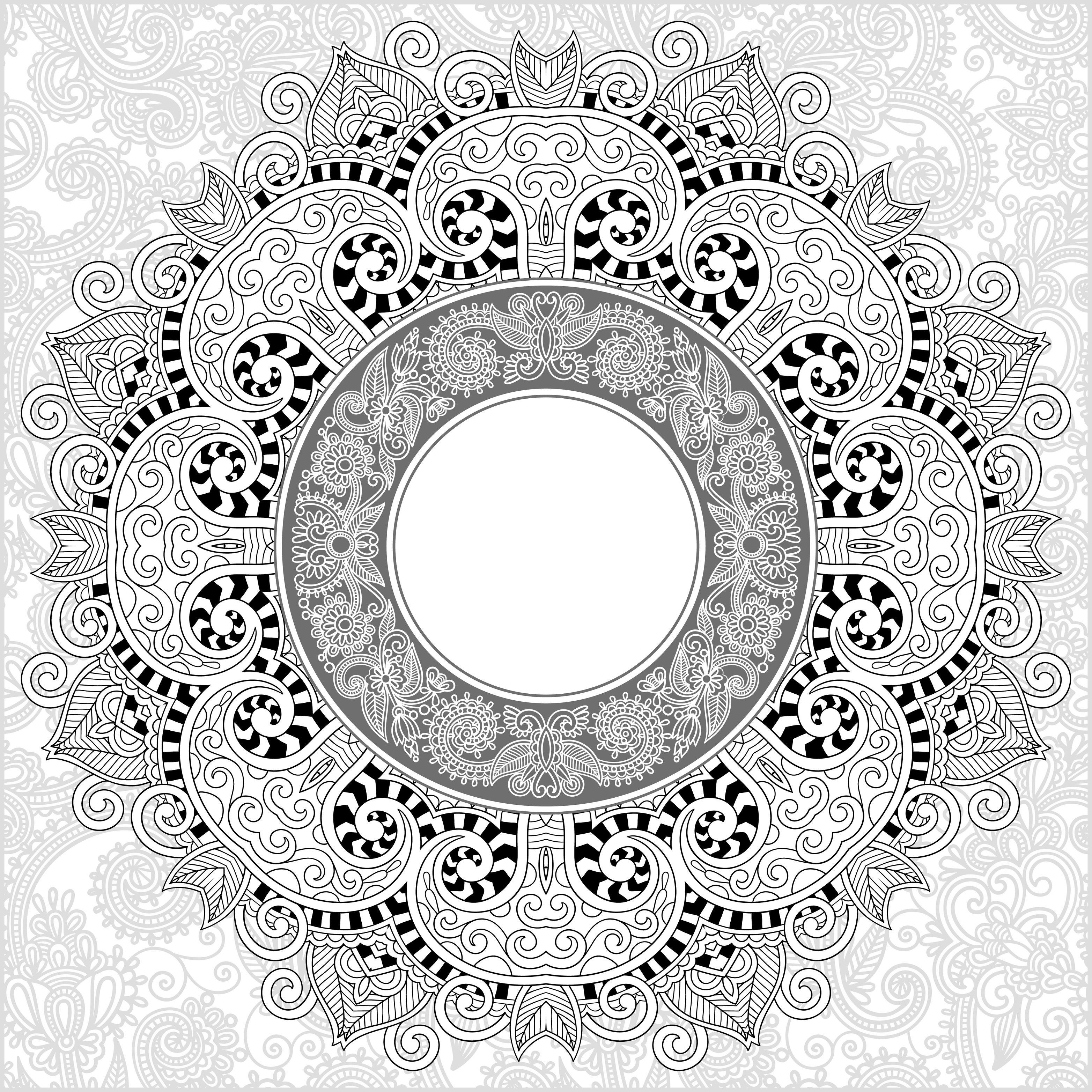 Mandala Fin Et Détaillé Mandalas Très Difficiles Pour