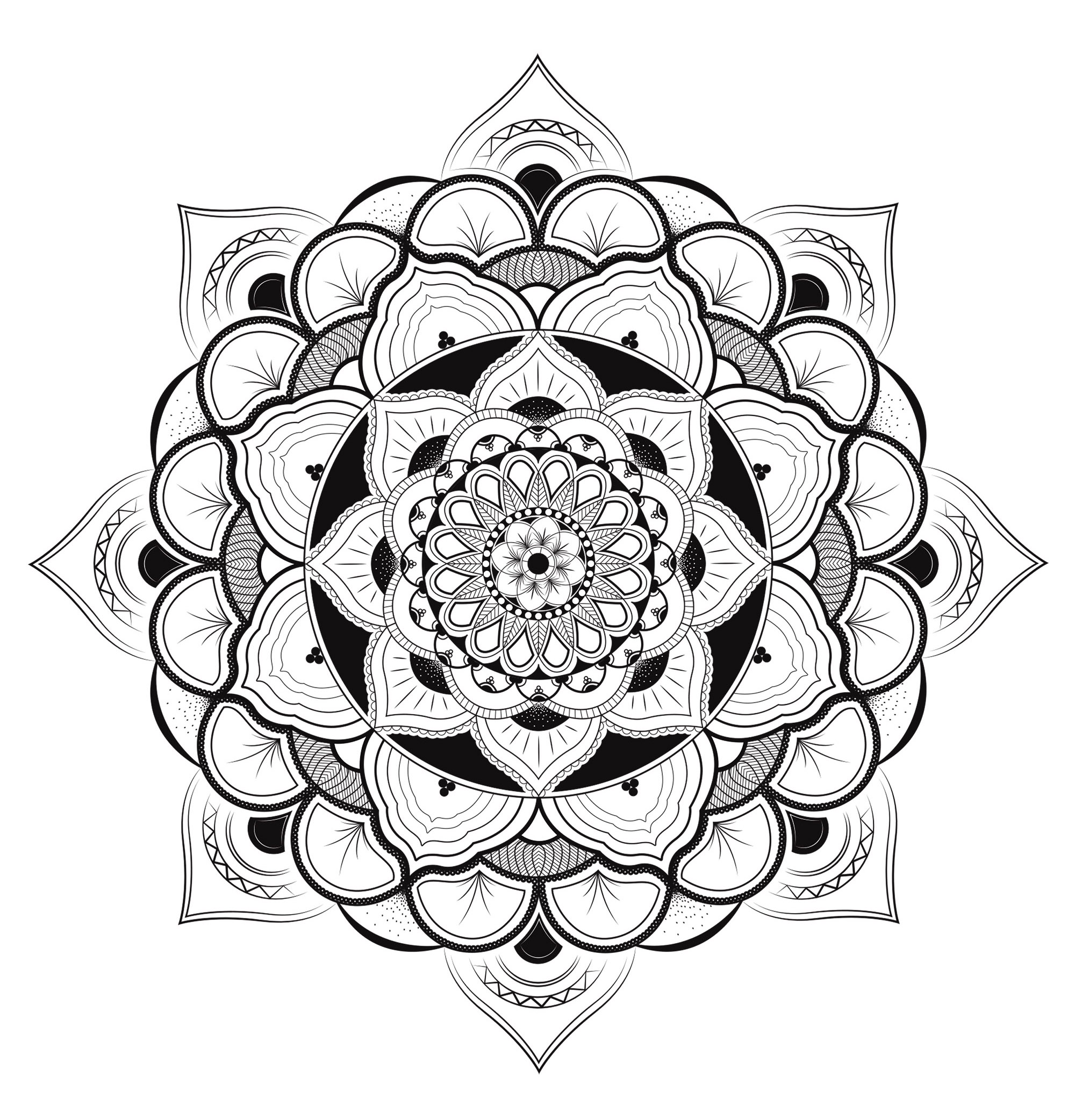 Mandala Exclusif Harmonieux Mandalas Tres Difficiles Pour Adultes