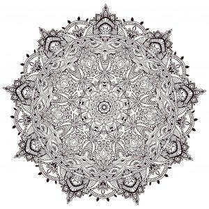 Mandala ultra détaillé