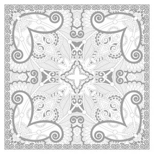 Un magnifique mandala carré très complexe
