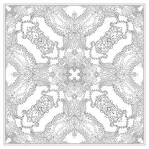 Mandala carré aux très petites zones