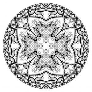 Mandala complexe très fin