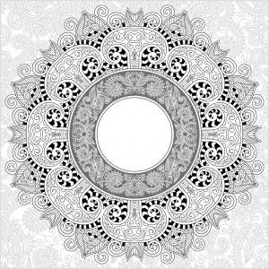 Mandala fin et détaillé