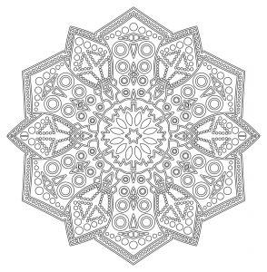 Mandala dentelles complexe