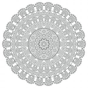 Mandala Anti stress très détaillé