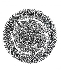 Coloriage de Mandala complexe