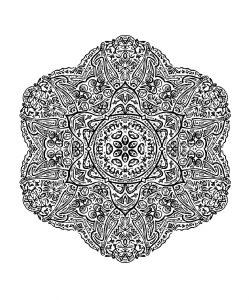 Mandala ultra détaillé et fin