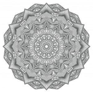 Mandala anguleux avec plusieurs niveaux