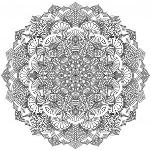 Mandala feuilles complexe