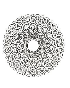 Mandala aux formes faisant penser à des ronces