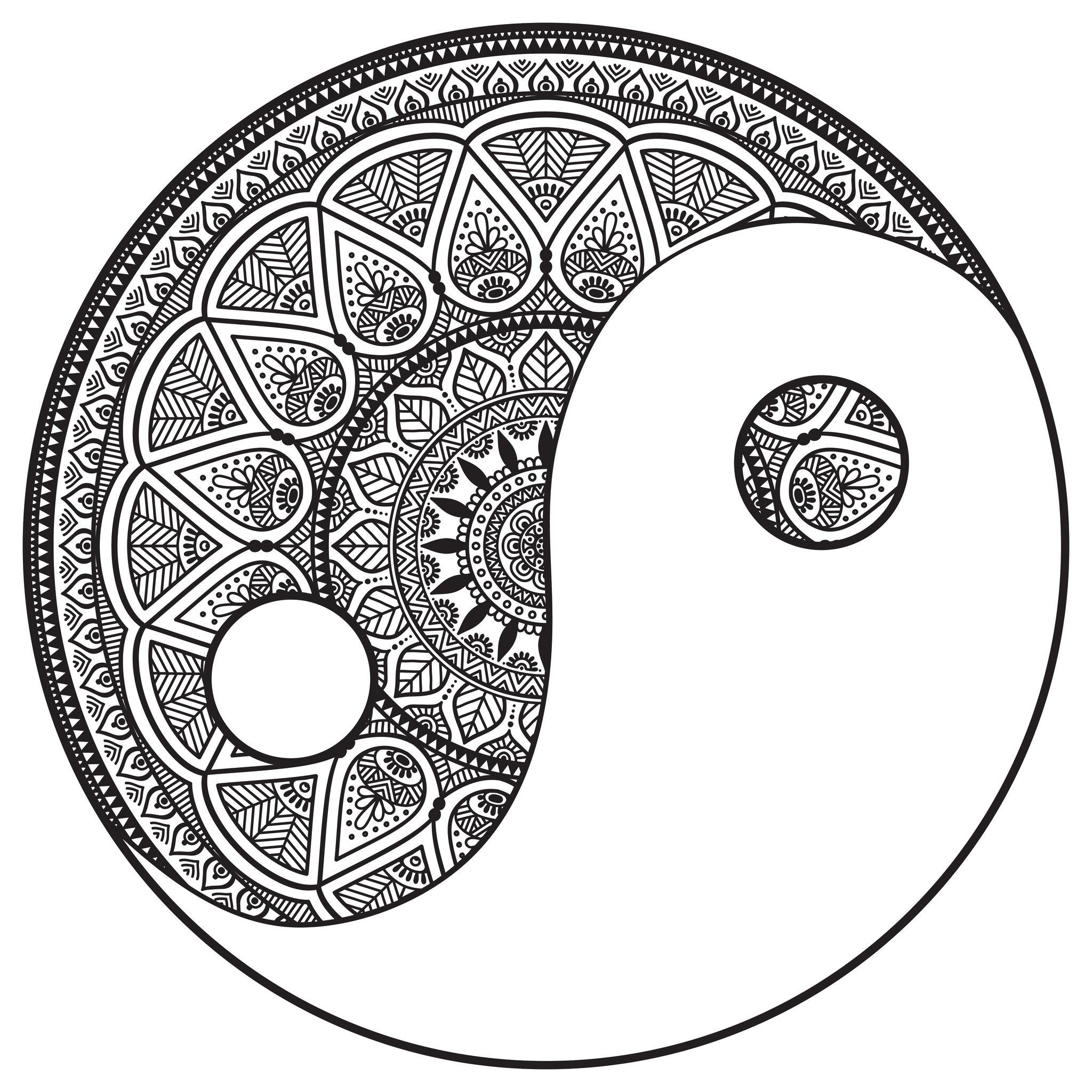 Mandala yin et yang mandalas zen anti stress 100 mandalas zen anti stress - Dessin anti stress mandala ...