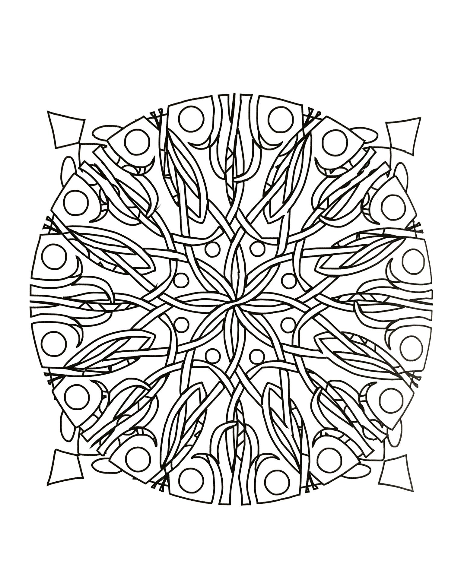 Ronces Dans Un Mandala Mandalas Zen Anti Stress 100 Mandalas