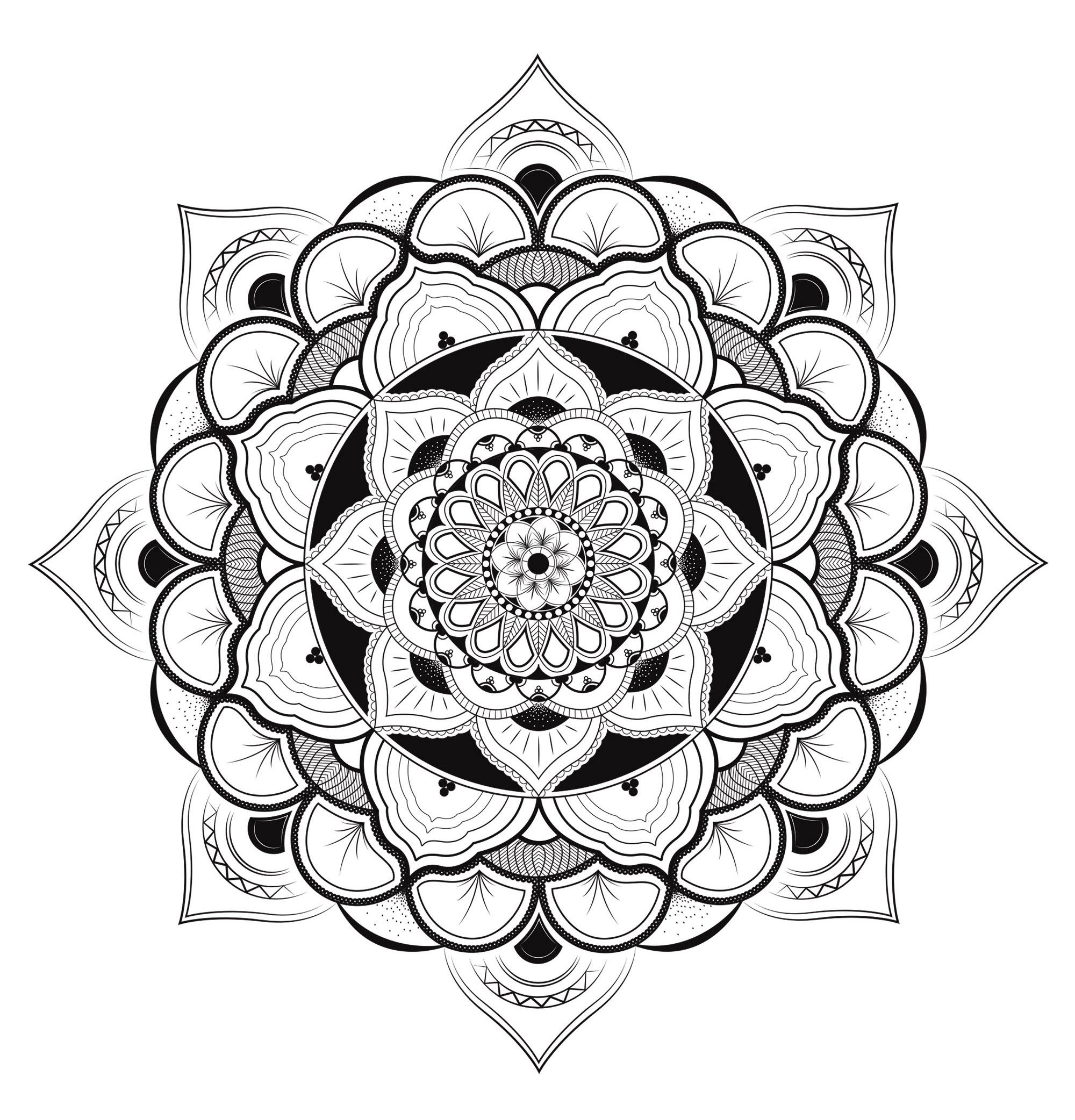 Coloriage Mandala Geant.Mandala Vectoriel Mandalas Zen Anti Stress 100