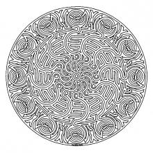 Mandalas zen anti stress 100 mandalas zen anti stress - Mandala a imprimer gratuit difficile ...