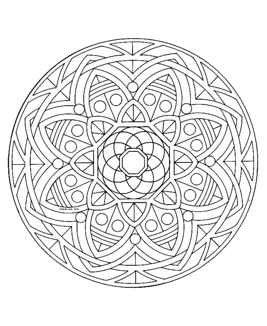 Mandala a colorier zen relax gratuit 18 mandalas zen - Zen coloriage ...