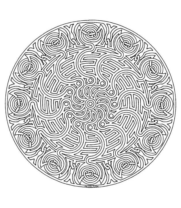 Volwassen Zen Kleurplaat Mandala A Colorier Zen Relax Gratuit 10 Mandalas Zen