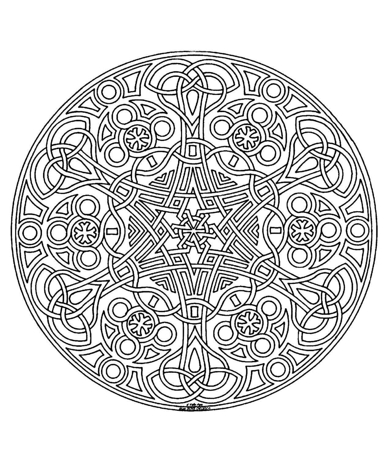 Mandala a colorier zen relax gratuit 7 mandalas zen - Coloriage minutieux ...