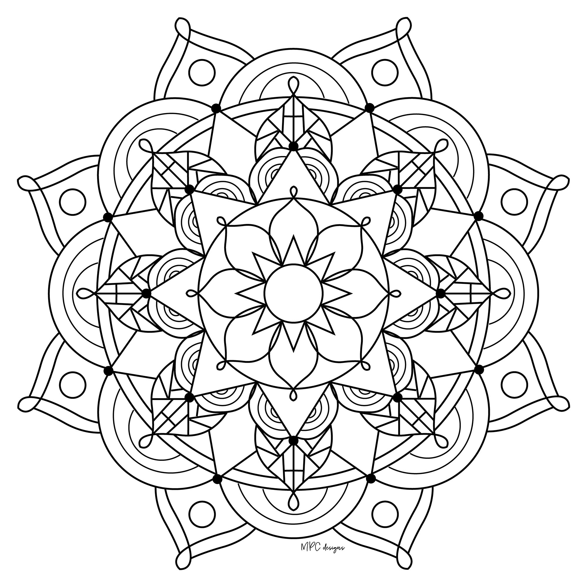 Coloriage Gratuit Imprimer Mandala.Joli Mandala Destressant Mandalas Zen Anti Stress 100