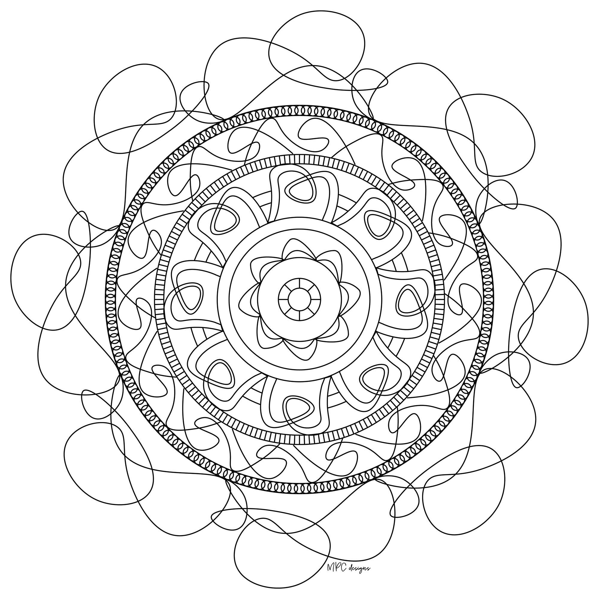 Mandala a imprimer mpc design 6 mandalas zen anti - Coloriage zen a imprimer ...