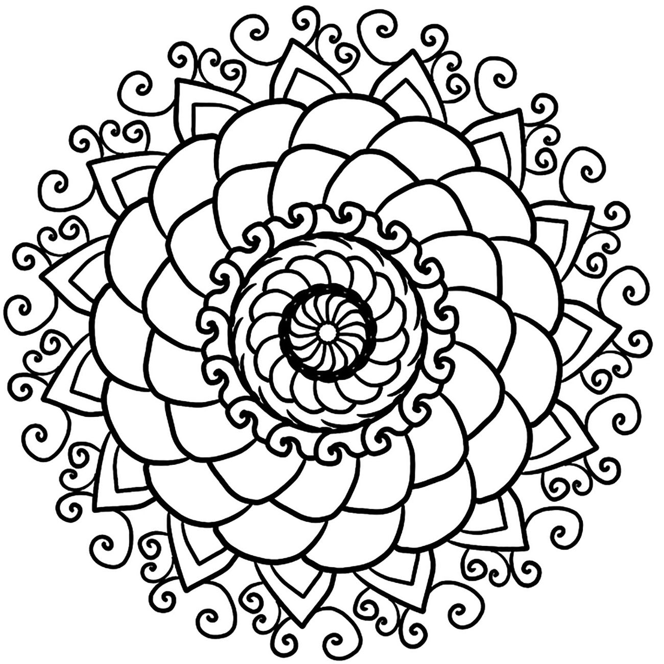 Mandala Anti Stress Simple Mandalas Zen Anti Stress 100