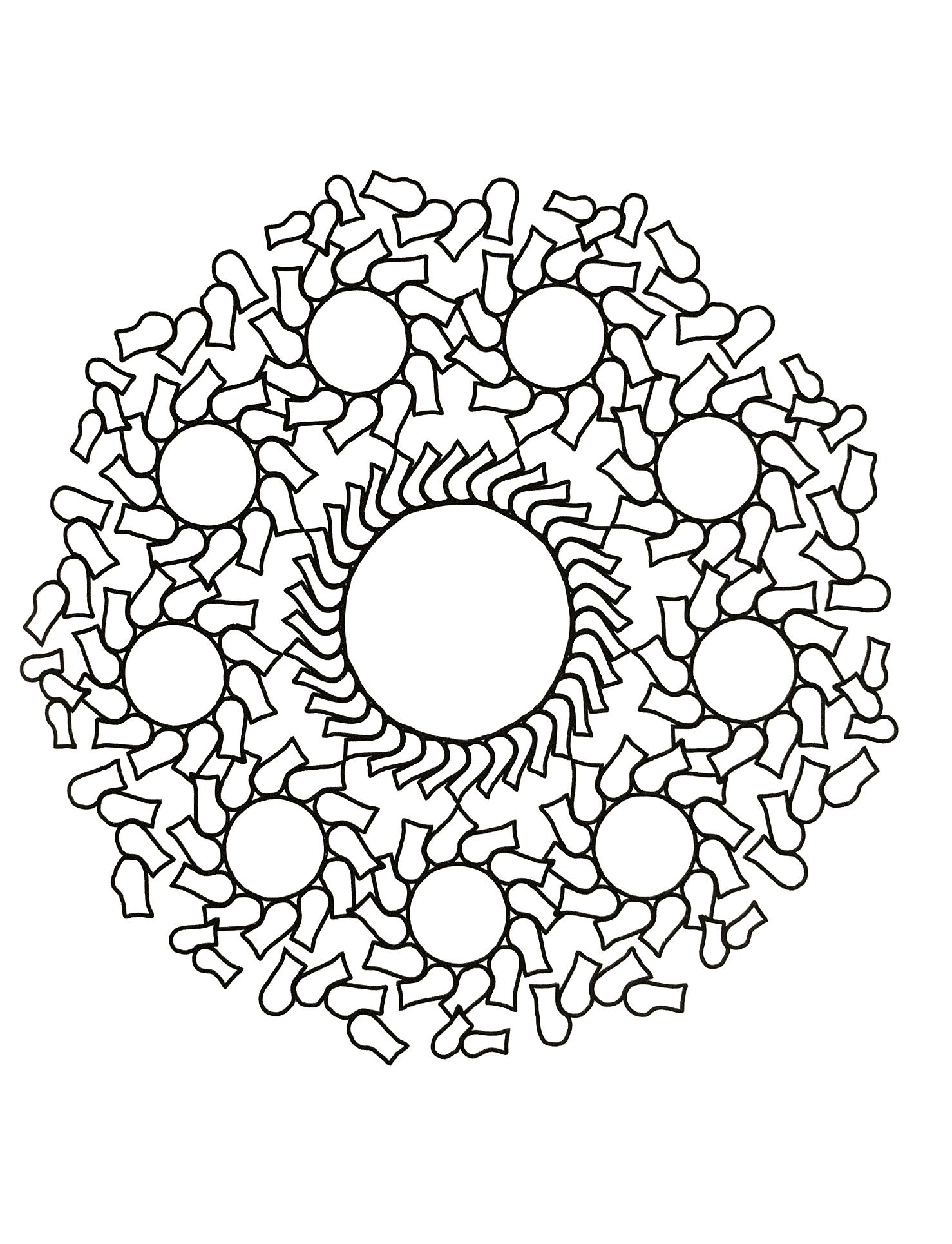 Mandala Ronds Et Droles De Formes Mandalas Zen Anti Stress 100 Mandalas Zen Anti Stress