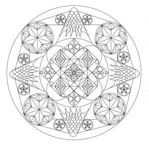 Un beau Mandala unique en son genre par Allan