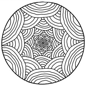 Mandala illusion d'optique