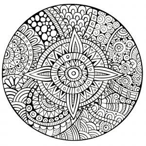 Mandala abstrait & fleuri