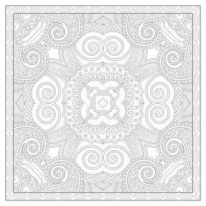 Mandala complexe et carré