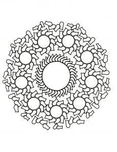 """Mandala """"cercles et éclats"""""""