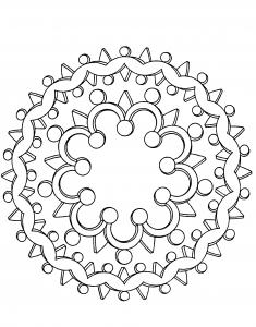 """Mandala """"couronne"""""""