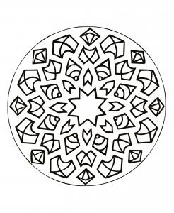 """Mandala """"éclats de joie"""""""