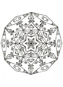 Mandala grande étoile