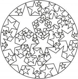 Mandala composé d'étoiles