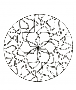 Mandala avec rubans