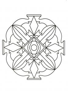 Mandala style vase