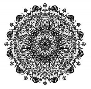 Mandala aux traits épais