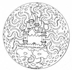 """Mandala """"Chateau"""" par Domandala"""